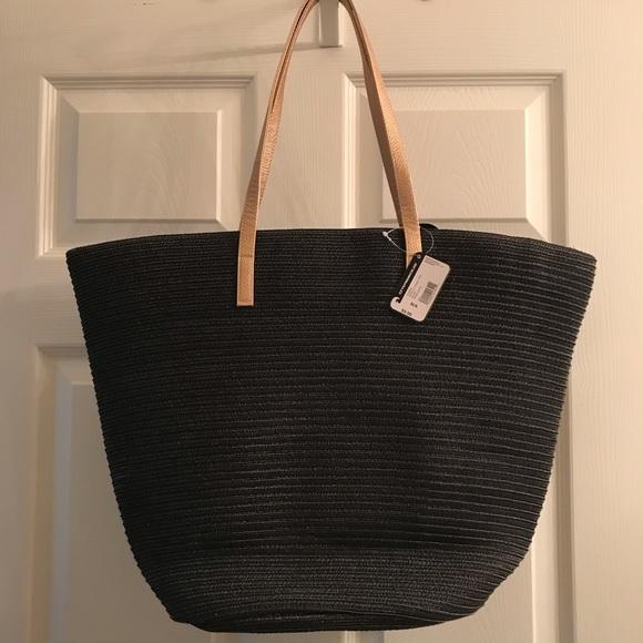 O'Rageous Handbags - Metallic Strap black Tote